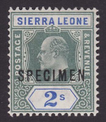 Sierra Leone. 1903. SG 83s, 2/- green & ultramarine, specimen. Fine mint.