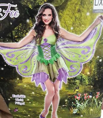 Frauenkostüm Fee Kostüm Frauen Karneval Fasching Halloween Fantasy Märchen
