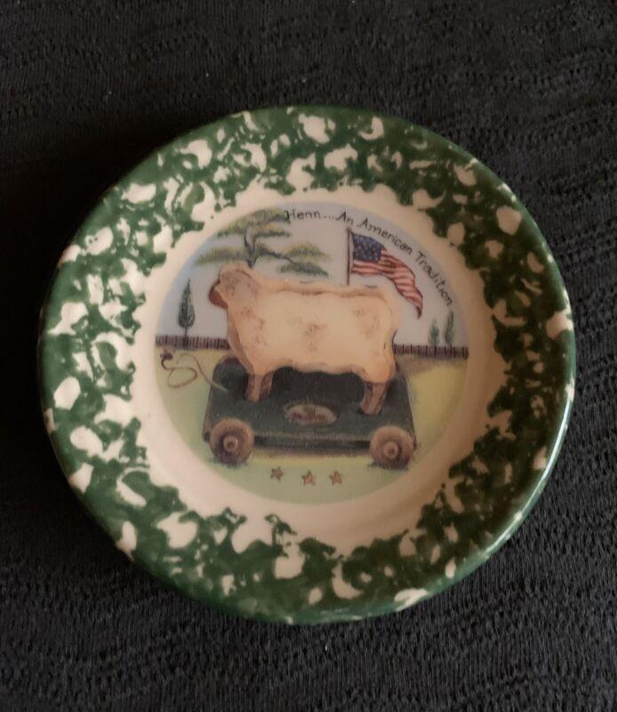 Vintage HENN Pottery Barnyard Plate ~Baabette~