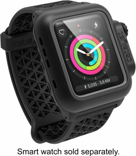 Catalyst - Protective Waterproof Case for Apple Watch 42mm/44mm - Stealth Black