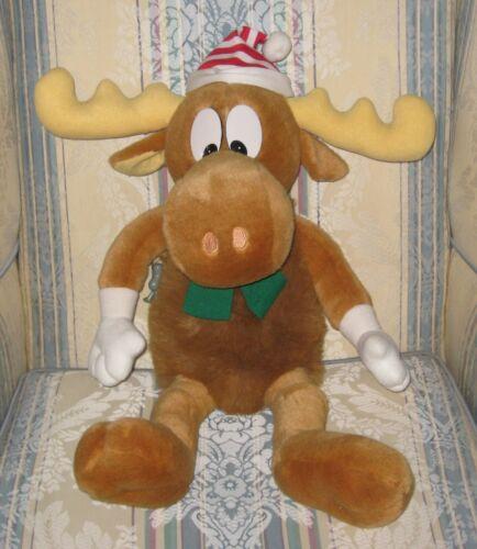 "Macys Bullwinkle & Rocky Ornament 24"" Christmas Holiday Collectible Plush 1996"