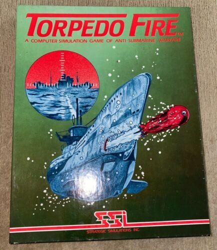 "1981 Rare Apple II SSI Torpedo Fire 5.25"" Floppy Disk Computer Game"