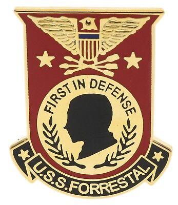 USN Navy USS Forrestal Ship Hat or Lapel Pin Gold Tone JCH14826D147