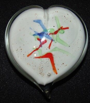 Solid Glass Heart Shape Paperweight Paper Weight