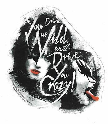 Kiss You Drive Us Wild STICKER - Decal Music Band Album Art -