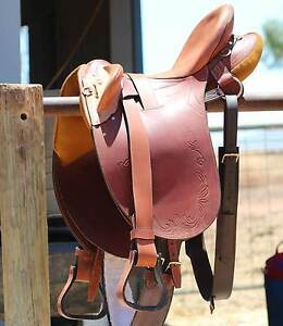 """Sid Hill Stock Saddle Brand New 18"""" Stoneville Mundaring Area Preview"""