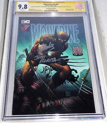 Wolverine #v3 #20 Retailer Incentive Edition CGC SS 9.8 Signed 4x STAN LEE Fury
