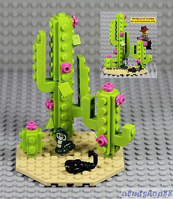 LEGO - Desert Scene w/ Cactus Plant Scorpion Cobra Snake Wild West Cowboy Flower (Desert Scene)
