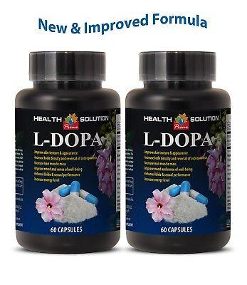 Natural Fertility - male fertility supplement, L-DOPA 99% EXTRACT, natural antidepressant 2 Bottles