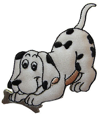 (#3898 Cartoon Dalmatian Dog Embroidery Iron On Applique Patch)