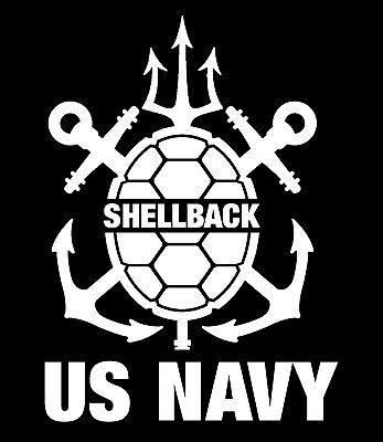"5.25"" US Navy Trusty Shellback sticker Crossing the line vinyl window decal"