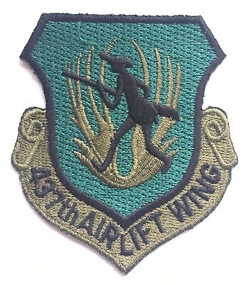 437th Airlift Wing Subdued USAF Embroidered Patch **LAST ONE**