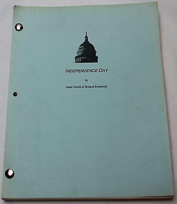 Independence Day * 1995 Original Movie Script Screenplay * Alien, Sci Fi Film