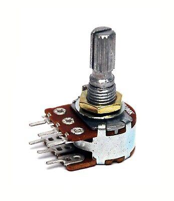 50pc Dual Potentiometer 16mm B Type Pcb Pin Resistance 100 1m X12 Items