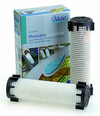 Oase Aquaactiv Phosless Algenschutz  Phosphatbinder gegen Algen im Teich 2x1 l