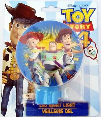 New Disney Pixar Toy Story 4 Woody Buzz LED Night Light Lite On-Off Switch (Woodies Light Shades)
