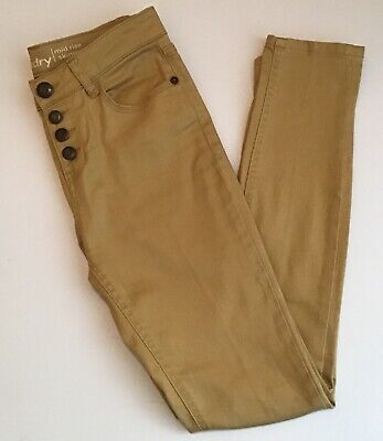 Hippie Laundry Button Fly Skinny Jeans Mustard Wash Size 27 - EUC!