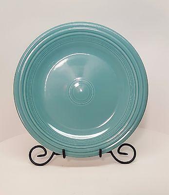 "Fiesta 10 1/2"" Dinner Plate Turquoise Blue Fiestaware F1G"