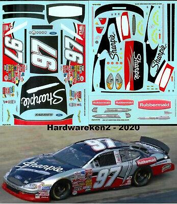 NASCAR DECAL #97 SHARPIE BRISTOL WINNER 2003 FORD TAURUS KURT BUSCH JWTBM