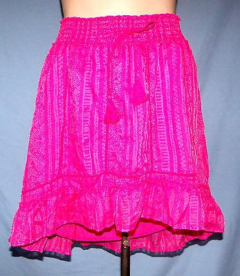 (Aeropostale Fully Lined Bias Cut Hem Mini Skirt Size Small (4/6) Elastic Waistba)