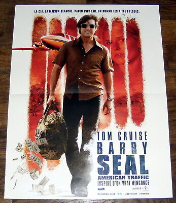 Barry Seal American Traffic Tom Cruise Drug Cartels Colombia Small French Poster
