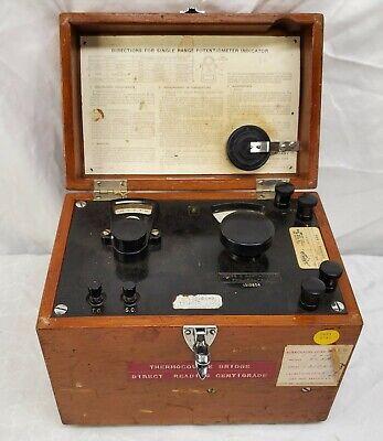 Leeds Northrup - Potentiometer Model -8658 - Meter In A Box - Un-tested - Read