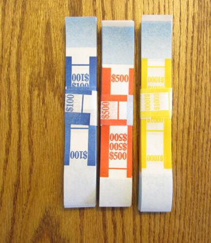 300 SELF SEALING CURRENCY STRAPS  MONEY BILL BANDS STRAP PMC COMPANY BRAND