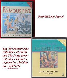 The Secret Seven & Famous Five AudioBooks  collection - 4 x CDs MP3 Format cased