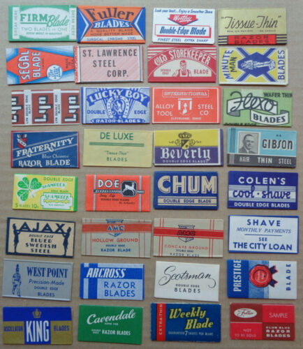 Vintage USA Razor Blades Choose 5 Diff from  2 Photos for $4.99 READ CAREFULLY