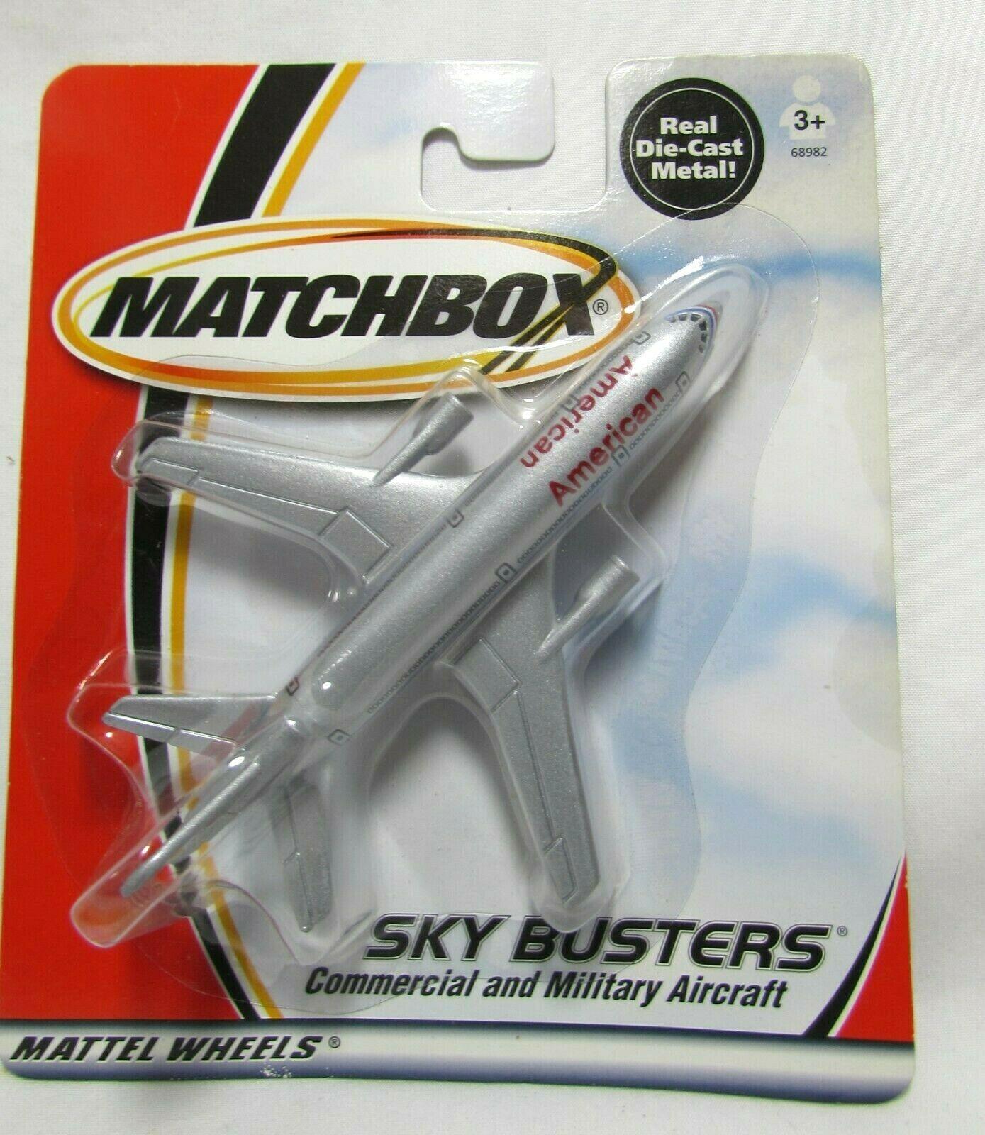 2000 LUFTHANSA DIE-CAST MATCHBOX  SKY BUSTERS AIRPLANE MATTEL WHEELS