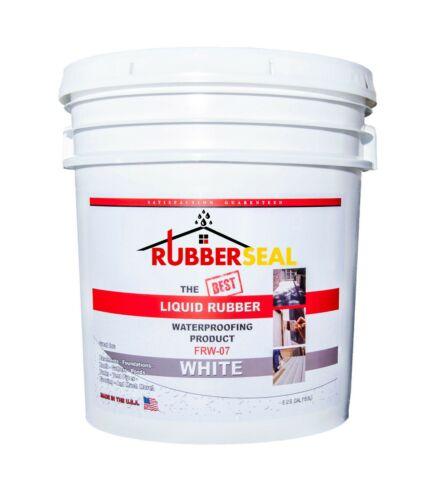 Rubberseal Liquid Rubber Waterproofing Roll On White 5 Gallon - New