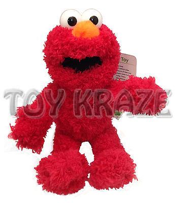 Sesame Street Elmo Furry Plush  Small Red Soft Doll Cuddle Stuffed Toy 8 9  Nwt