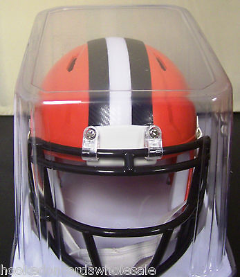 Nfl Mini Helmet - Cleveland Browns Speed Mini Helmet Replica NFL - New Style 2015 - BROWN MASK