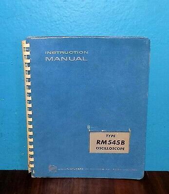 Original Tektronix Type Rm545b Oscilloscope Instruction Manual Free Shipping