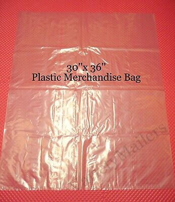 20 Jumbo 30x 36 Clear Flat Plastic Merchandise Storage Bags 1.5 Mil