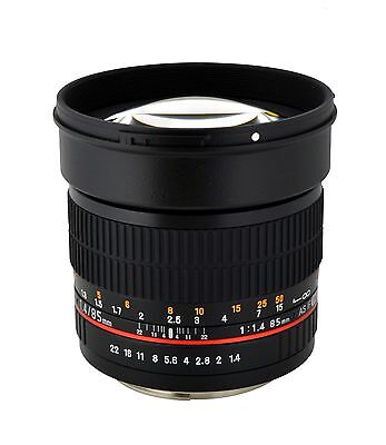 Rokinon 85mm F1.4 Aspherical Portrait Lens - Newest Version!