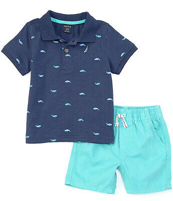 Nautica Boys' Polo Shirt and Shorts Set 4T (MSRP $59)