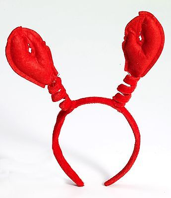 MARDI GRAS CRAWFISH HEADBAND Red Claws Lobster Crab Hat Cap Adult Fish Sea Food (Lobster Hat)