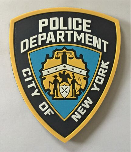 NYPD New York Police Department Blue Line PVC Patch Hook&Loop SWAT SEAL PMO 1302