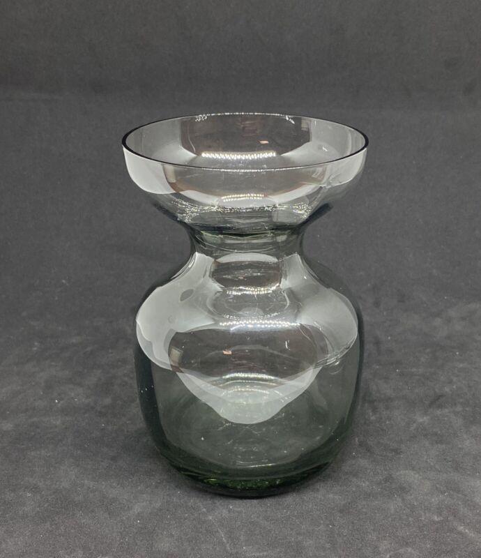 Vintage kastrup holmegaard Danish hyacint vase smokey bulb forcer