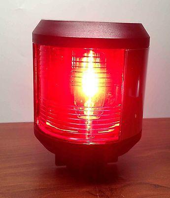 Port Navigation Light (LARGE MARINE RED PORT NAVIGATION LIGHT WATERPROOF 2 NM BOATS UP TO)