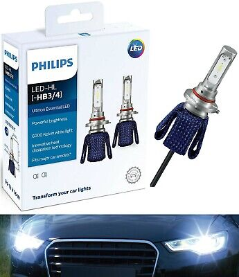 Philips Ultinon LED Kit 6000K White 9006 HB4 Two Bulbs Head Light Low Beam Stock
