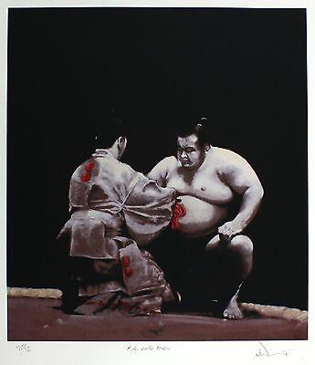CHARLES WILLMOTT Gyoji Awards Ken-sho sumo wrestling SIGNED! SIZE:64cm x 59cm