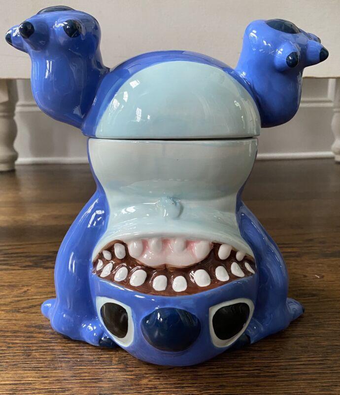 Disney Lilo And Stitch Handstand Cookie Jar Whimsical Ceramic NIB NEW