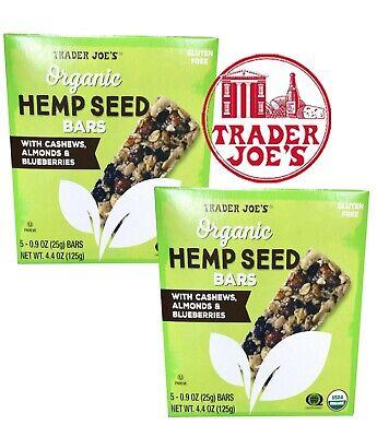 🔥 X2 BOX  Trader Joe's Organic Hemp Seed Bars 🔥