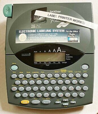 Brother P-touch Extra Label Maker With Extra Unopened Tape. Works Great