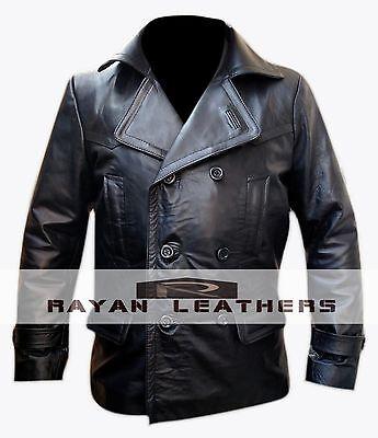 German Submariner WW2 Vintage Men's Black Leather Jacket/Coat