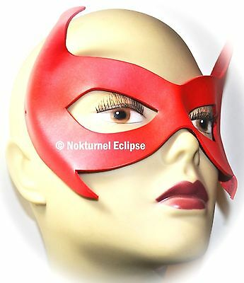 RED Robin Damian Wayne Leather Mask Superhero Batman Batgirl Halloween UNISEX ()