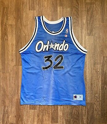 Vintage Shaquille O'Neal ORLANDO MAGIC CHAMPION NBA Jersey 48