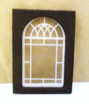 AM2149W Dollhouse Miniature Gothic Working Round Window
